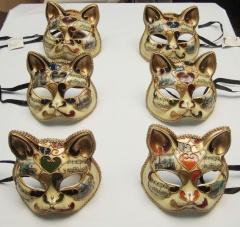 Mascaras venecianas Gato deco