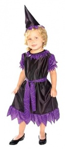 Disfraz de bruja violeta