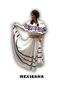 Alquiler de disfraz de Mexicana blanca