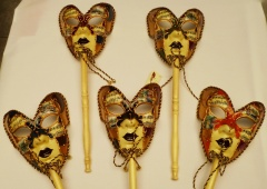 Mascaras veneciana Farfalla Bastone Deca