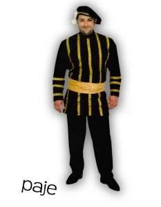 Alquiler de disfraz de Paje