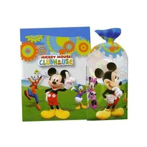 Bolsa rectangular Mickey llena de golosinas