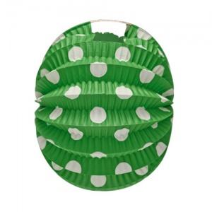 Farolillo verde con lunares blancos