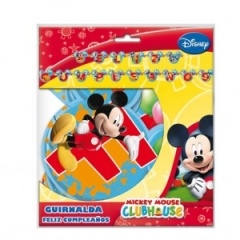 Guirnalda Feliz cumpleaños Mickey Club House