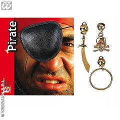 Parche pirata con pendiente