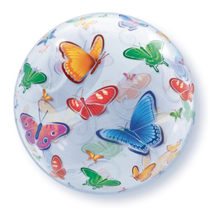 Globo bubble con mariposas
