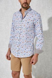 Camisa Florentino estampada slim fit rayas