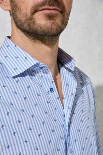 Camisa Florentino rayas combinada estampado