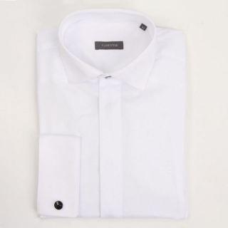 Camisa Florentino ceremonia micrograbado