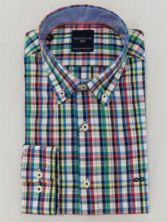 Camisa Gendive manga larga cuadros multicolor