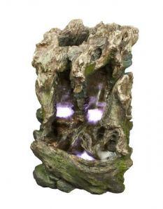 Fuente tronco cascada 59 cm.