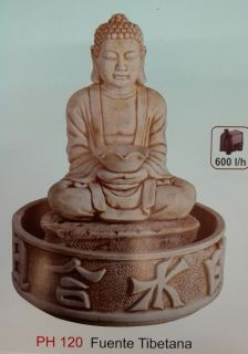 Fuente tibetana Buda