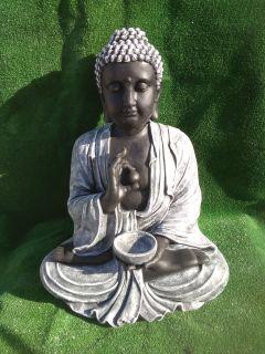 Buda grande 80 cm, negro/blanco