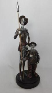 Figura Don Quijote y Sancho 39 cm.