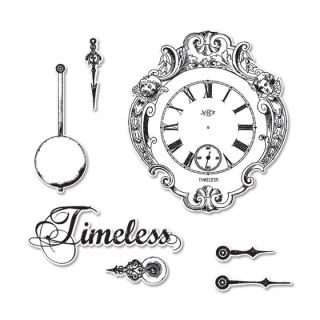 imagen Sizzix Framelits Timeless Clocks with Stamps