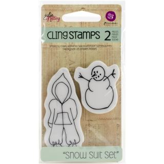 imagen Baby Snow Suit Set. Julie Nutting Mixed Media Cling Rubber Stamps