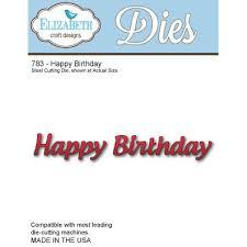 imagen Elizabeth Craft Designs Happy Birthday troquel