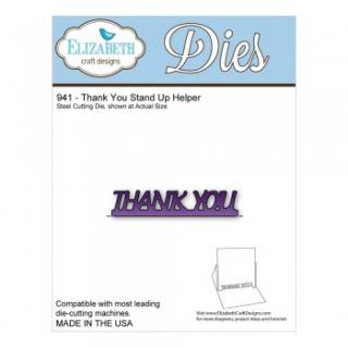 imagen Elizabeth Craft Die - Thank You Stand Up