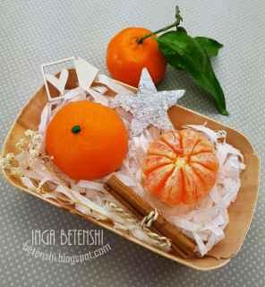 imagen Jabones mandarinas 2 piezas en una cesta