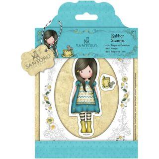 imagen Santoro - Gorjuss Girls - Cling Mounted Rubber Stamp - The Little Friend