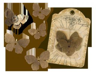 imagen Graphic 45 metal butterflies (6 pcs)