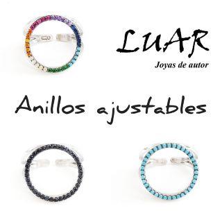 thumb Anillos plata ajustables LUAR Denia