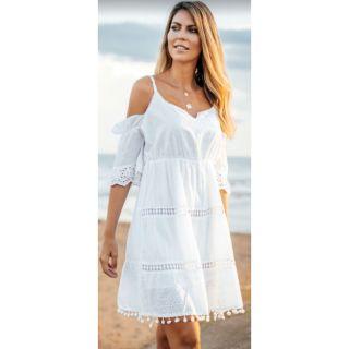 imagen Vestido corto blanco