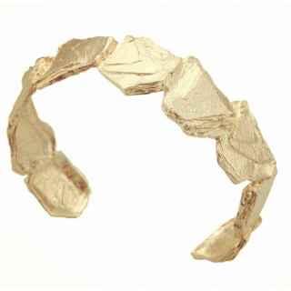 imagen Brazalete plata baño oro