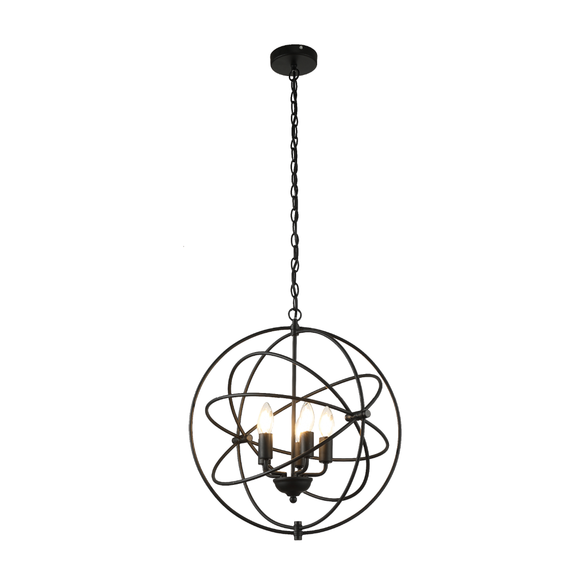 thumb 2860 LAMP. 4XE14- NEGRO - 50CM - SERIE VANESSA