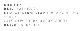 thumb 1705/40/CU PLAFÓN LED CUERO 40CM 24W-48W - (3000K-4000K-6000K) CON MANDO A DISTANCIA - SERIE DENVER