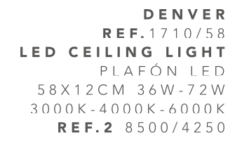 thumb 1710/58 PLAFÓN LED 58CM 36W-72W - (3000K-4000K-6000K) CON MANDO A DISTANCIA - SERIE DENVER