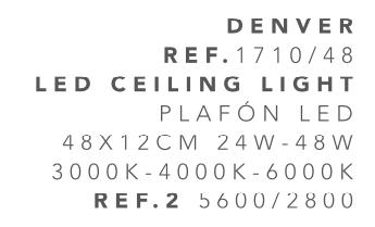 thumb 1710/48 PLAFÓN LED CROMO 40CM 24W - (3000K-4000K-6000K) CON MANDO A DISTANCIA - SERIE DENVER