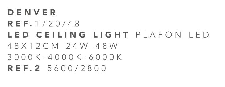 thumb 1720/48 PLAFÓN LED CROMO 48CM 24W-48W  (3000K-4000K-6000K) CON MANDO A DISTANCIA - SERIE DENVER