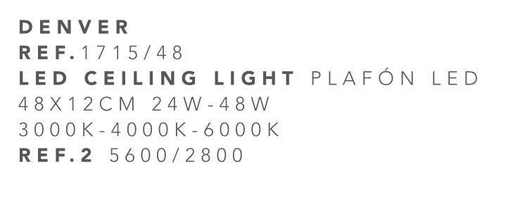 thumb 1715/48 PLAFÓN LED CROMO 48CM 24W-48W - (3000K-4000K-6000K) CON MANDO A DISTANCIA - SERIE DENVER