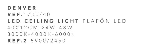 thumb 1700/40 PLAFÓN LED 40CM 24W-48W - (3000K-4000K-6000K) CON MANDO A DISTANCIA - SERIE DENVER
