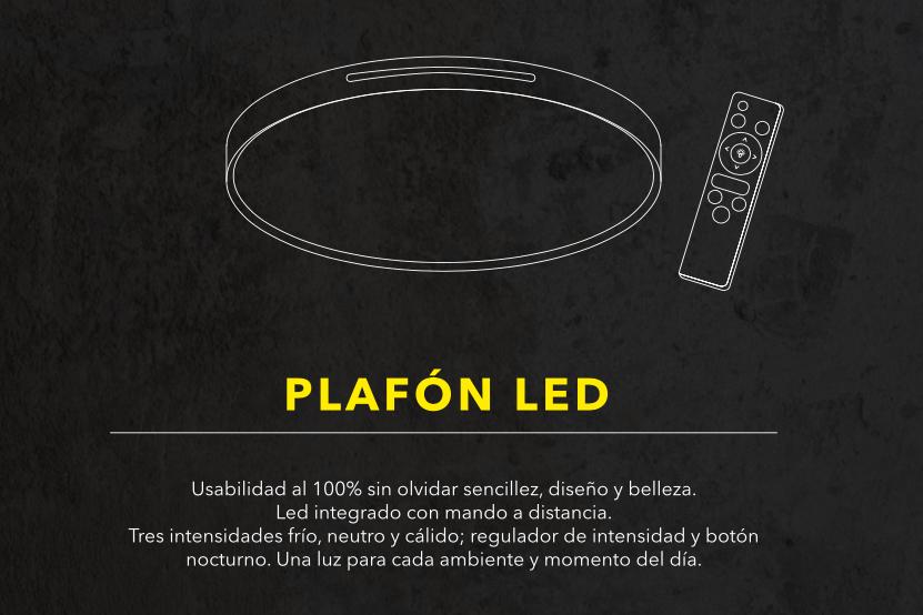 thumb 1725-40 PLAFÓN LED BLANCO 40CM 24W - (3000K-4000K-6000K) CON MANDO A DISTANCIA - SERIE VEGAS
