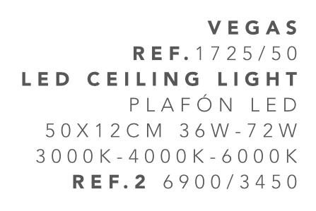 thumb 1725-50 PLAFÓN LED BLANCO 50CM 36W - (3000K-4000K-6000K) CON MANDO A DISTANCIA - SERIE VEGAS