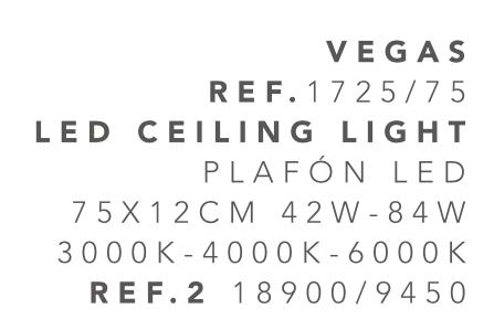 thumb 1725-75 PLAFÓN LED BLANCO 75CM 84W - (3000K-4000K-6000K) CON MANDO A DISTANCIA - SERIE VEGAS