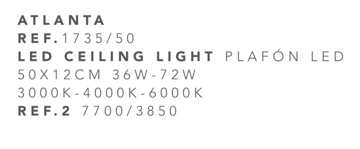 thumb 1735-50 PLAFÓN LED 50CM 36W - (3000K-4000K-6000K) CON MANDO A DISTANCIA - SERIE ATLANTA