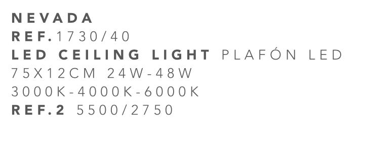 thumb 1730-40 PLAFÓN LED 40CM 24W - (3000K-4000K-6000K) CON MANDO A DISTANCIA - SERIE NEVADA
