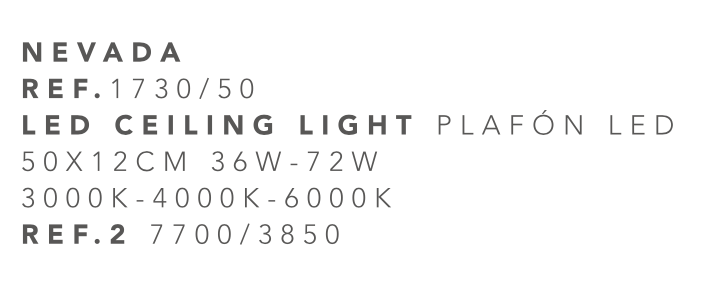 thumb 1730-50 PLAFÓN LED 40CM 36W - (3000K-4000K-6000K) CON MANDO A DISTANCIA - SERIE NEVADA