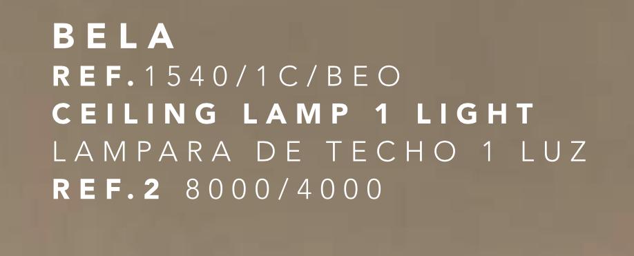 thumb 1540/1C/BEO COLGANTE TULIPA BELA PAN DE ORO 1X E27 30CM - OFERTA NETO