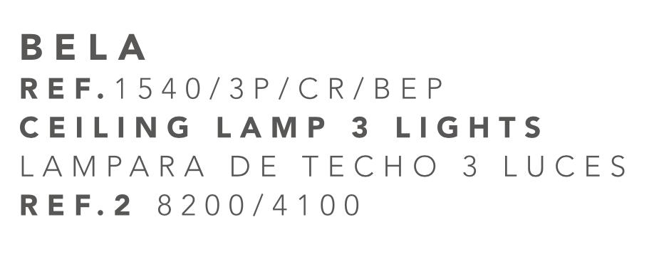 thumb 1540/3P/CR/BEP PLAFÓN  CROMO ALTURAS 3E14 TUL. BELA PLATA - SERIES M.I.S.