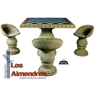 imagen Comedor Cuadrado Azulejos de Ajedrez