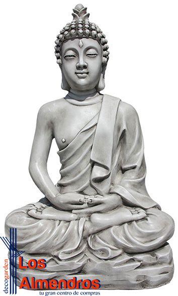 Figura Buda Grande Jardín Vipassi 100cm Los Almendros