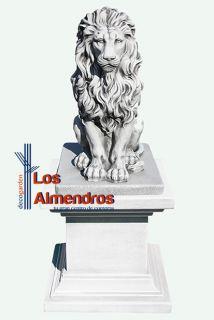 imagen León con Pedestal Leo Figura para Jardín