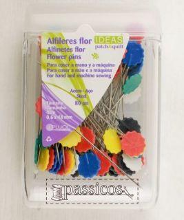 Alfileres cabeza en forma de flor 80 unidades IDEAS Patch