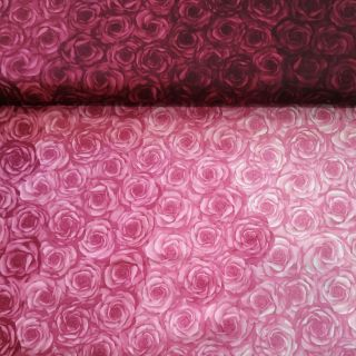tejido patchwork Rosa Ombre
