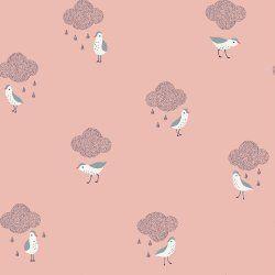 TELA POPELÍN BIRDS IN THE RAIN