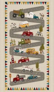 Panel de tela infantil Papa's Old Truck